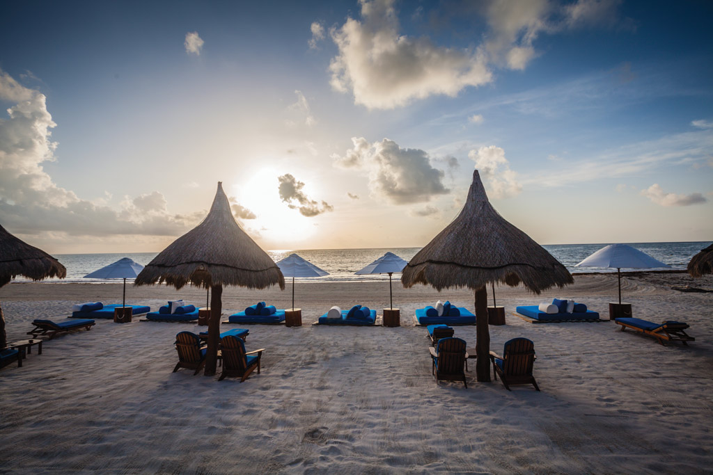 Beach Lounge at Belmond Maroma Resort and Spa, Riviera Maya, Quintana Roo, Mexico