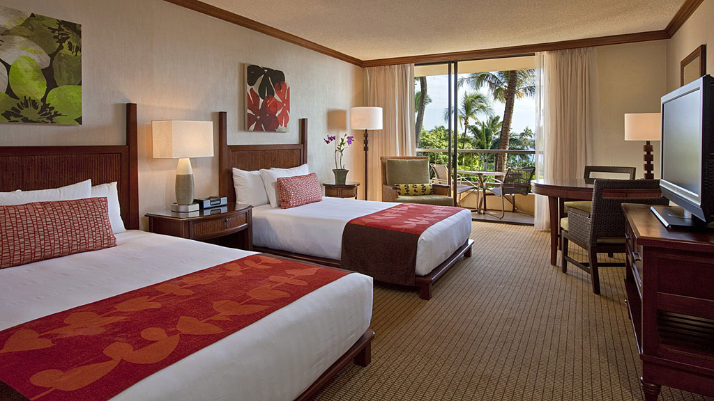 Double Guest Room with Partial Ocean Views at Hyatt Regency Maui Resort And Spa, Kaanapali, HI