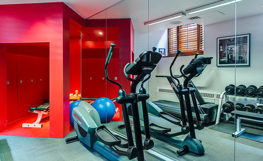 Fitness Center at Hotel Gault, Montreal, Quebec, Canada