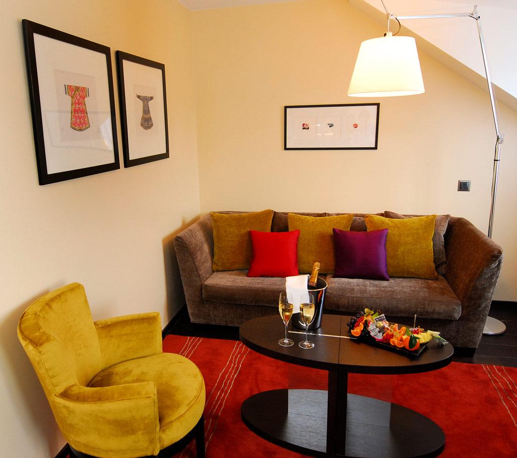 Lounge at Eastwest Hotel, Geneva, Switzerland