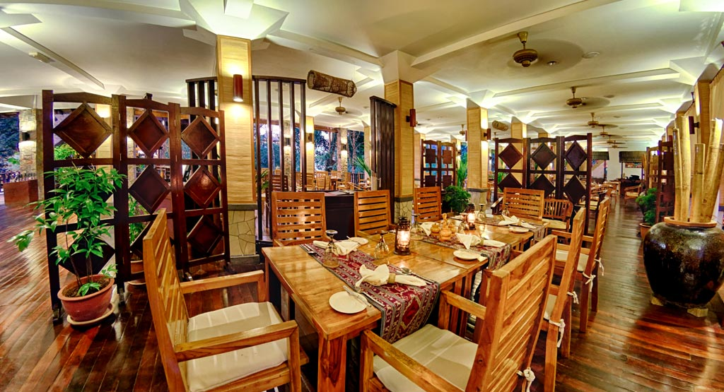 Longhouse Restaurant at Bunga Raya Island Resort and Spa, Kota Kinabalu, Malaysia