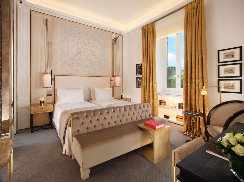 Prestige Twin Guest Room at Hotel Eden Rome, Italy