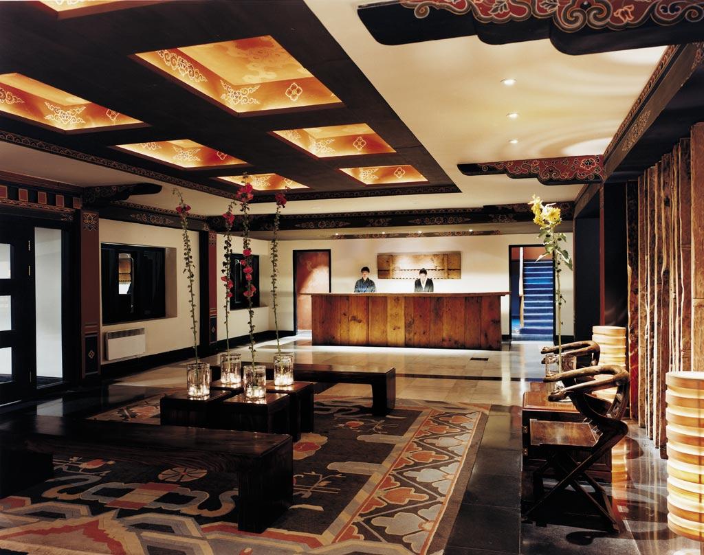 Reception at COMO Uma Paro, Paro, Bhutan