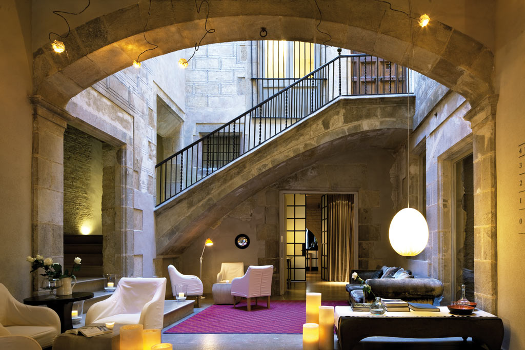 Lobby of Neri Hotel, Barcelona, Spain