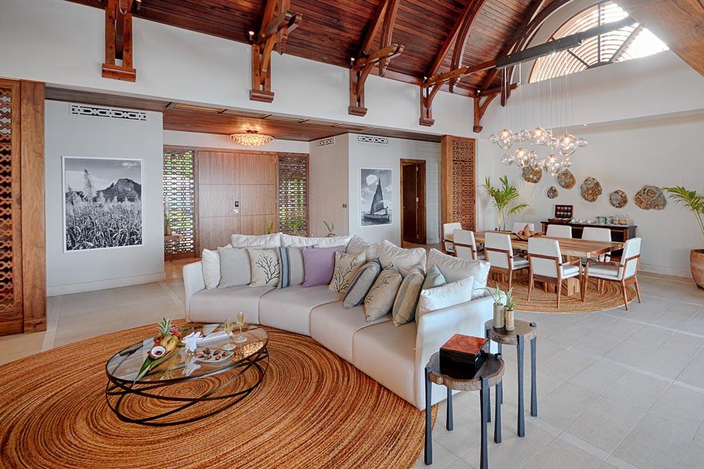 Beach Villa Living at Shangri-La's Le Touessrok Resort, Trou d'Eau Douce, Mauritius