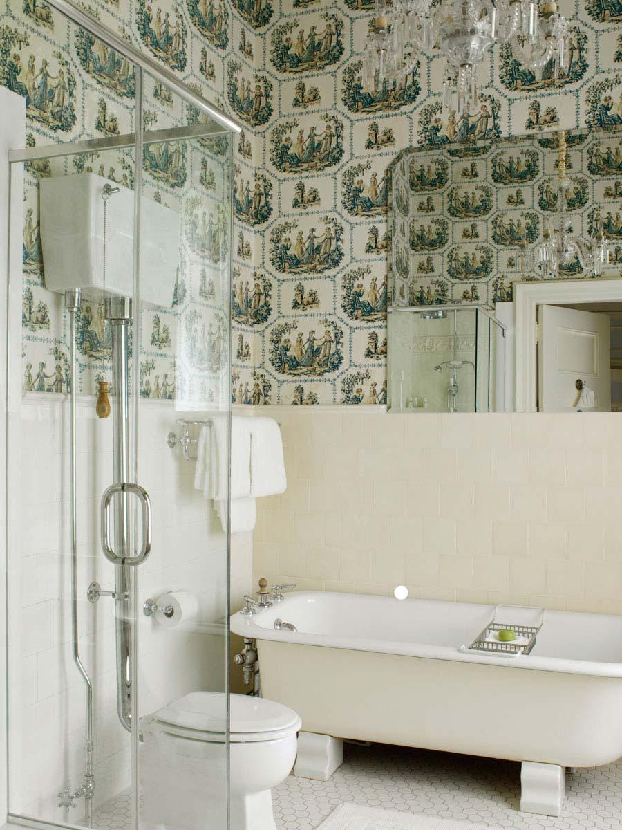 Guest Bath at Blantyre, Lenox, MA