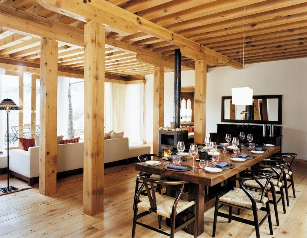 Villa Dining Room at COMO Uma Paro, Paro, Bhutan