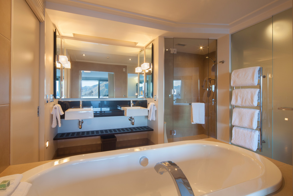Bath at The Spire Hotel, Queenstown, New Zealand