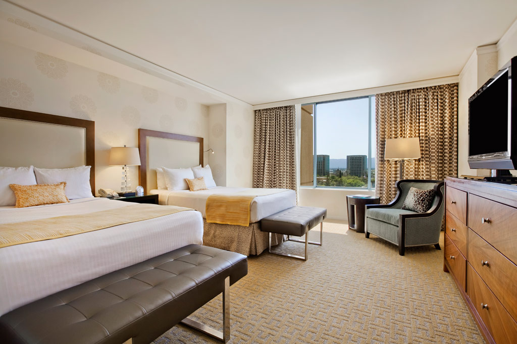 Double Guest Room at Fairmont San Jose, San Jose, CA