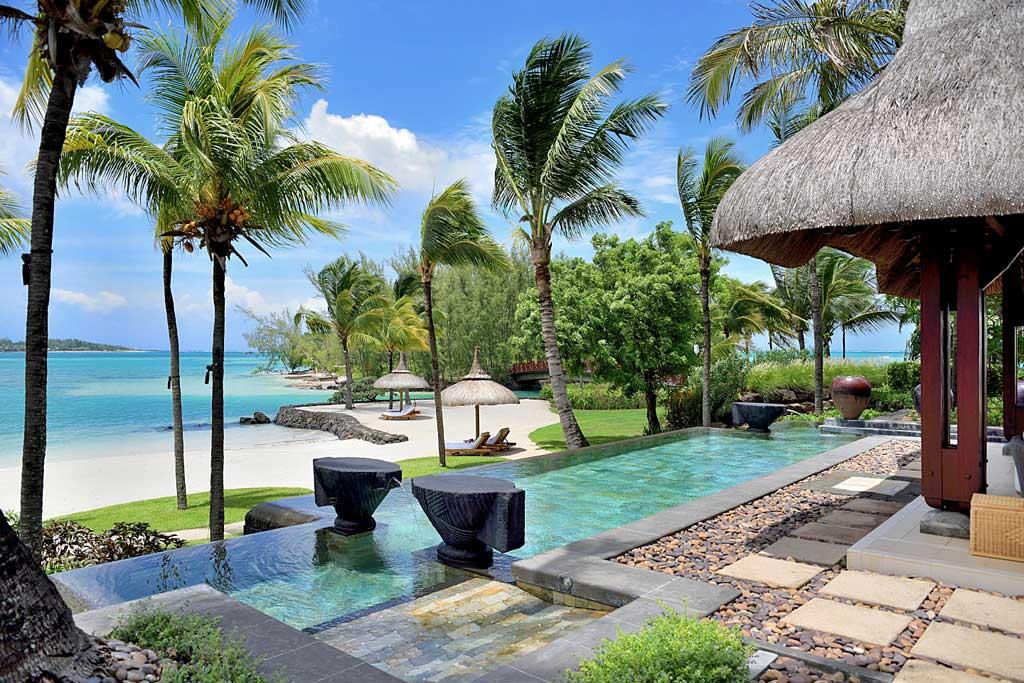 Beach Villa Terrace at Shangri-La's Le Touessrok Resort, Trou d'Eau Douce, Mauritius