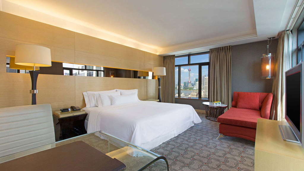 Grand Deluxe Guest Room at The Westin Bund Center, Shanghai, China