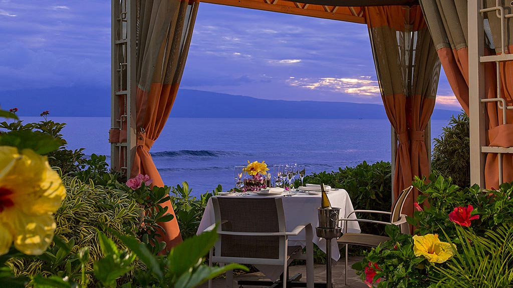 Ocean Side Cabana Dining at Hyatt Regency Maui Resort And Spa, Kaanapali, HI