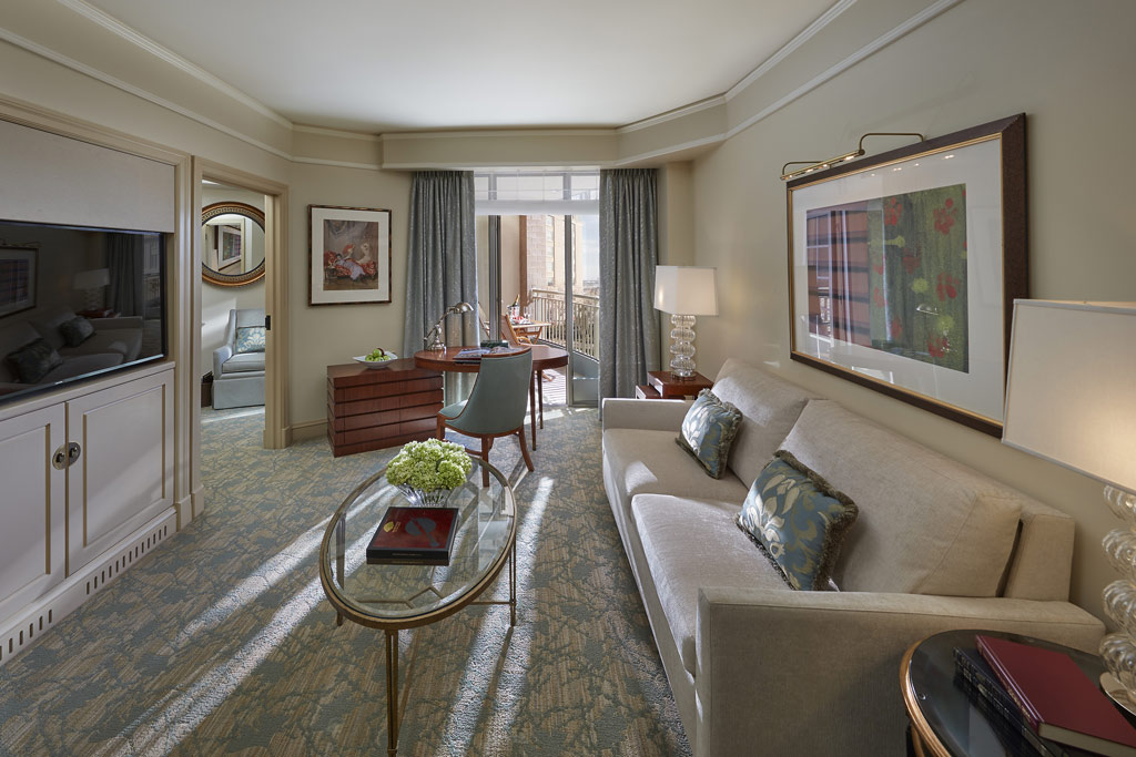 Executive Water View Suite Living Room at Mandarin Oriental Washington, DC, United States