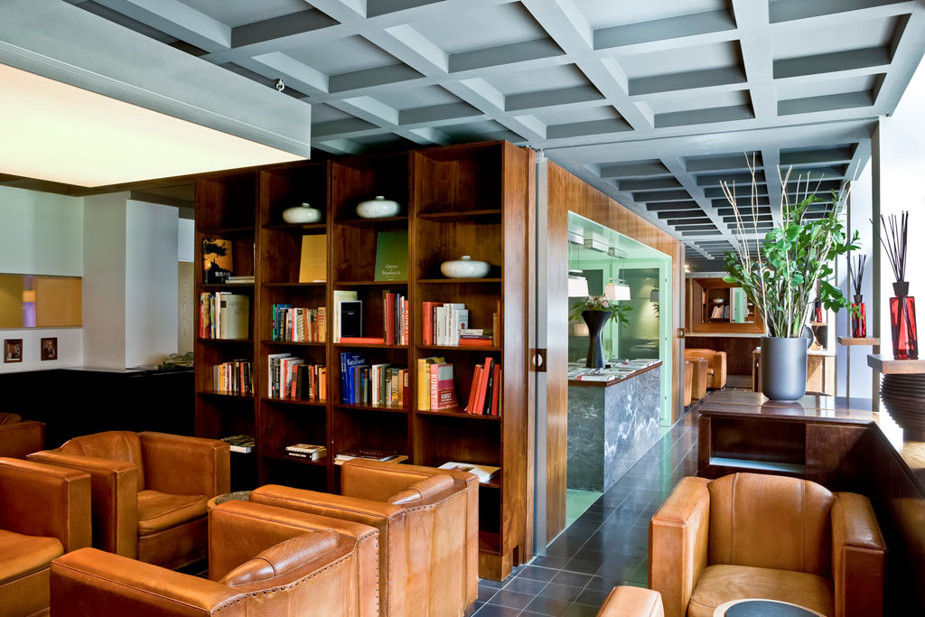Library at Sofitel Hamburg Alter Wall, Hamburg, Germany