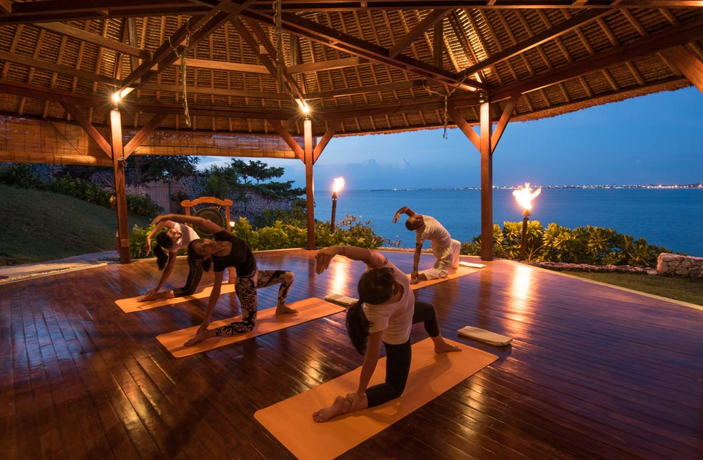 Enjoy Relaxing Yoga at Four Seasons Bali Jimbaran Bay, Bali, Indonesia