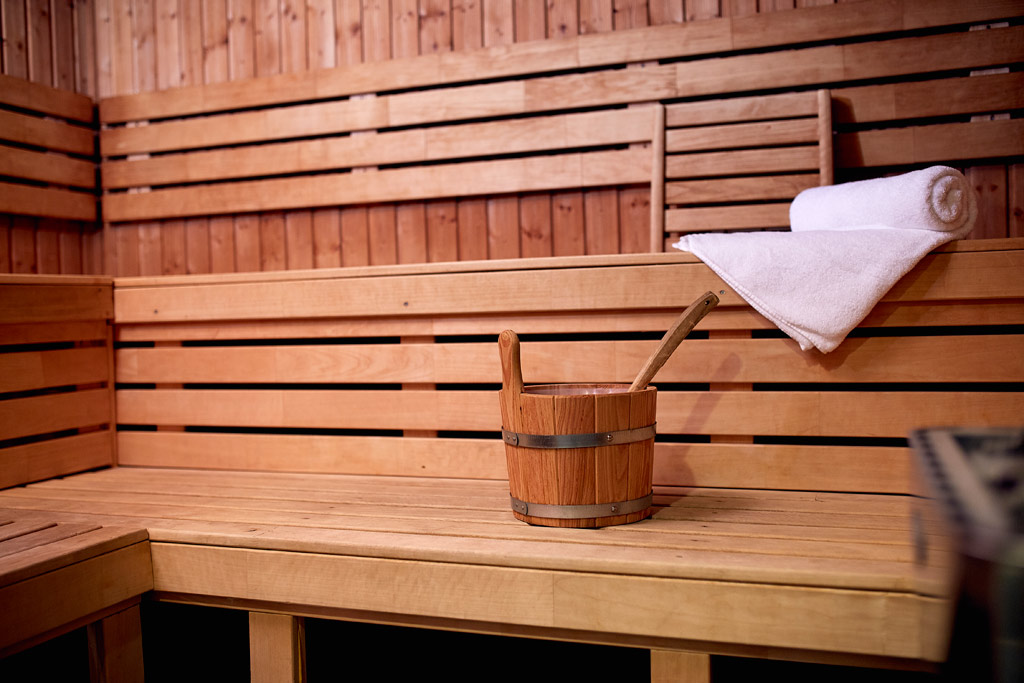 Sauna at Grand Hotel Karel V, Utrecht, The Netherlands