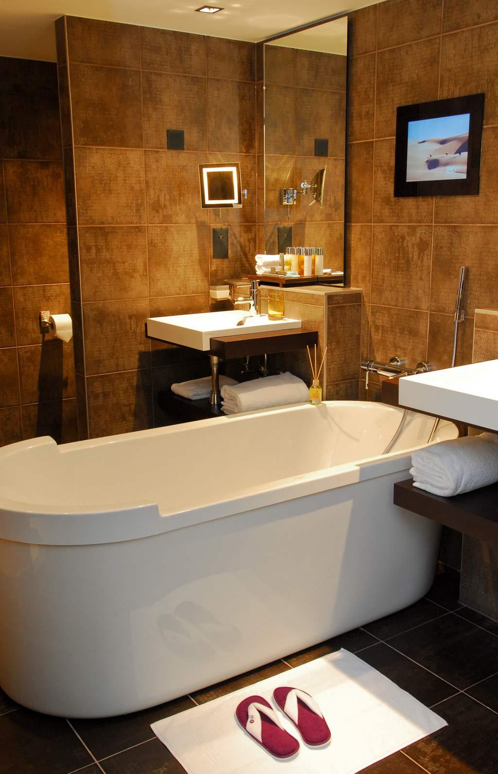 Suite Bath at Eastwest Hotel, Geneva, Switzerland