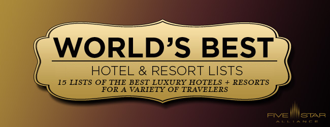the best luxury hotels in the world five star alliance