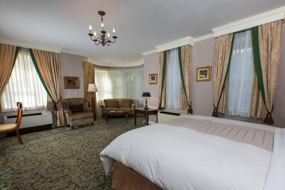Junior suite at Castle Hotel and Spa, Tarrytown, NY