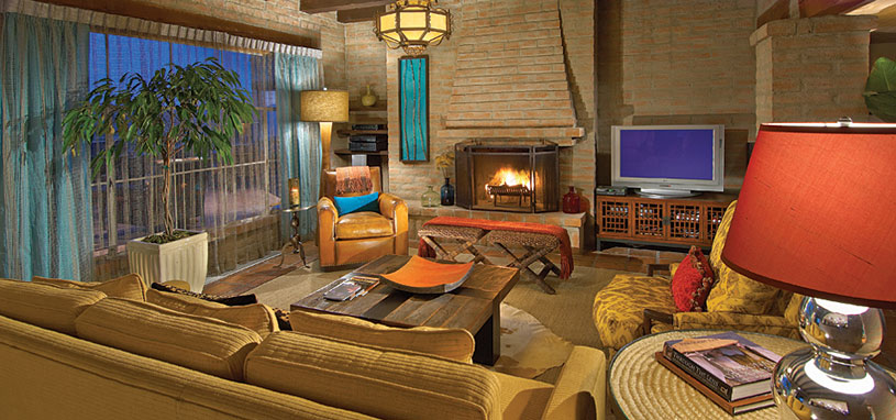 Sanctuary on Camelback Mountain Private Home - The Living Room of Casa Montana