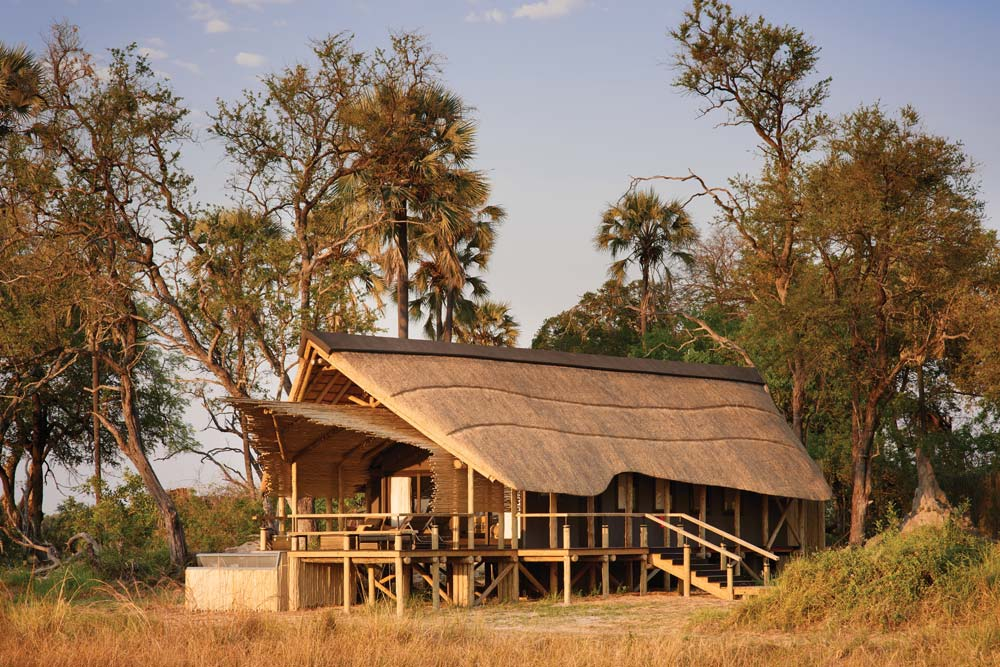 Cabin Exterior at Belmond SafarisBotswana