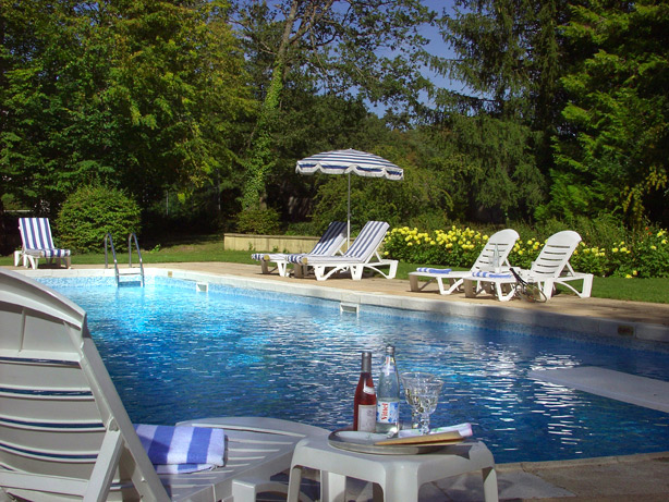 Chateau D'Antigny pool, Montbazon, France