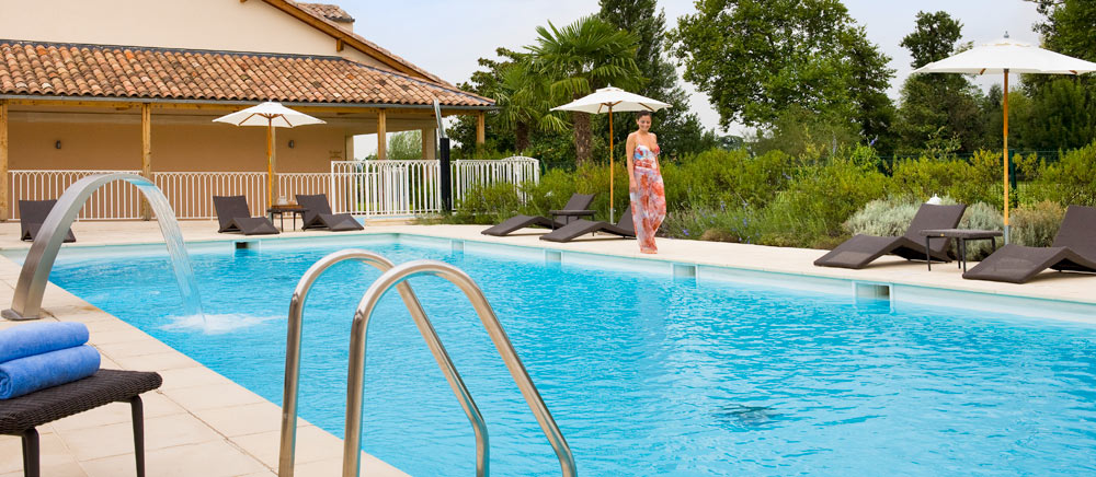 Outdoor Heated Pool at Hotel Chateau Grand Barrail Saint Emilion, France