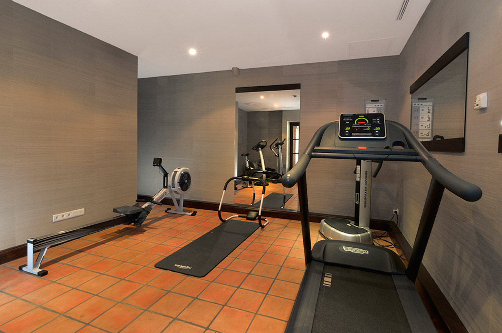Fitness Room at Hotel Chateau Grand Barrail Saint Emilion, France