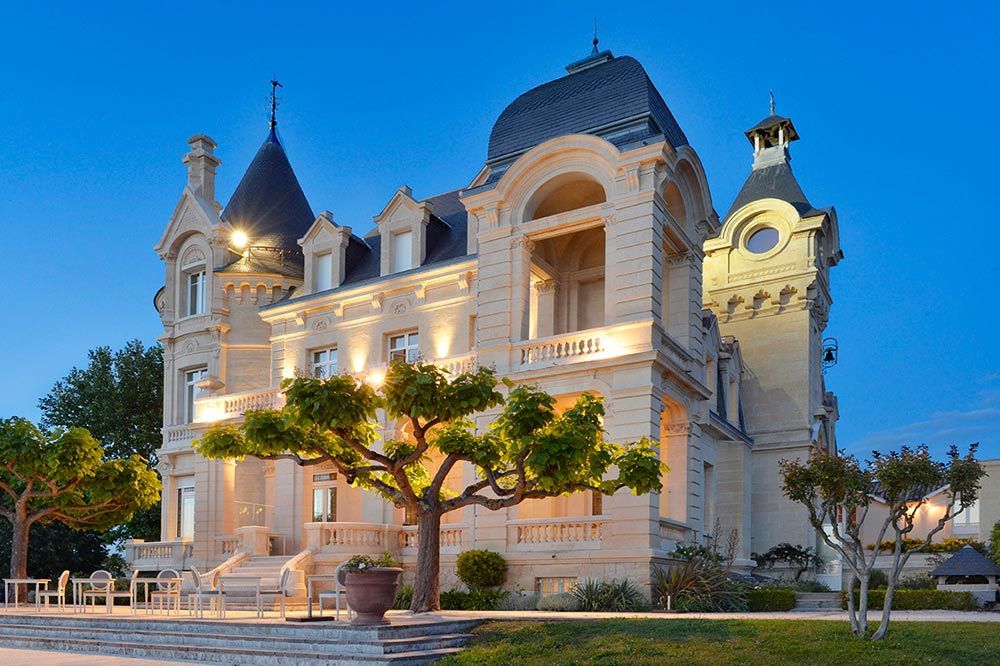 Exterior View of Hotel Chateau Grand Barrail Saint Emilion, France