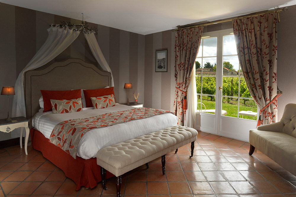 Vineyards House Deluxe Room at Hotel Chateau Grand Barrail Saint Emilion, France