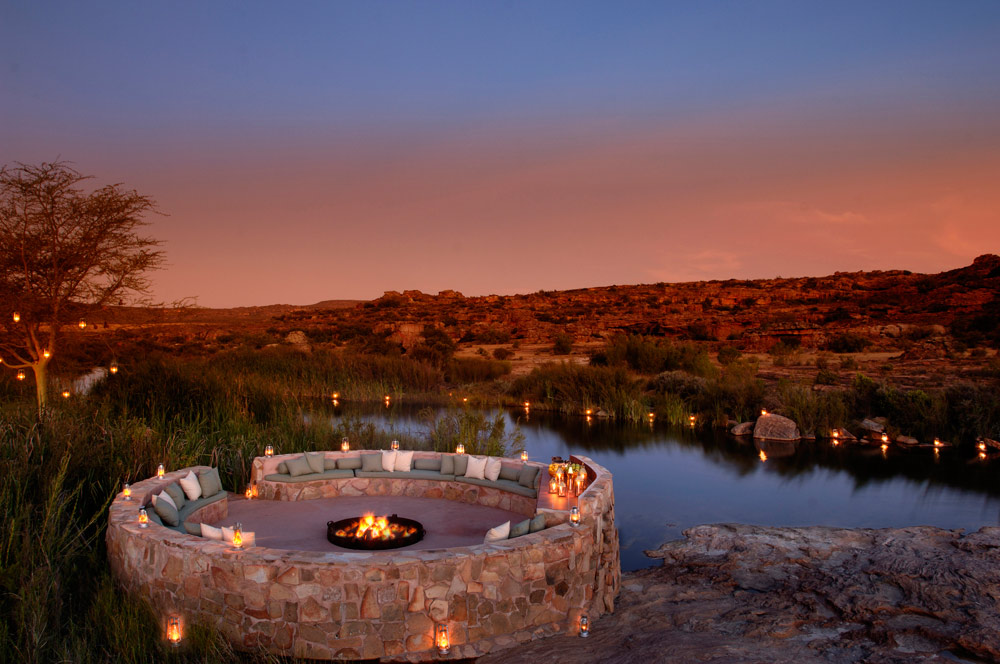 River Side Boma at Bushmans Kloof Wilderness Reserve Western Cape, South Africa