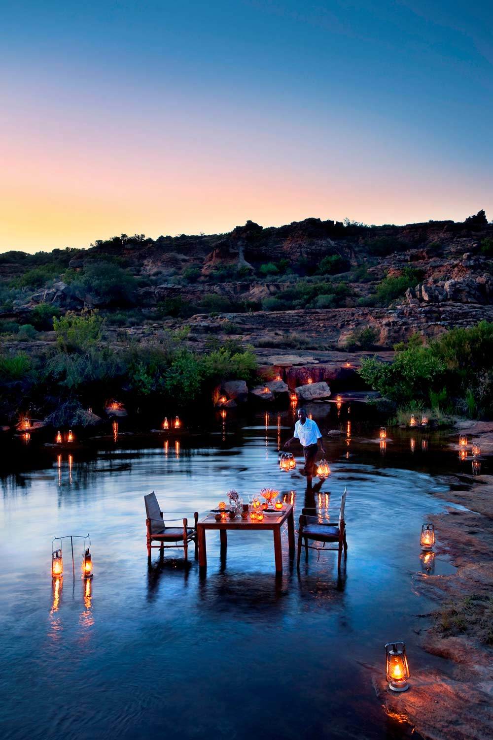 Outdoor Dining Experience at Bushmans Kloof Wilderness Reserve Western Cape, South Africa
