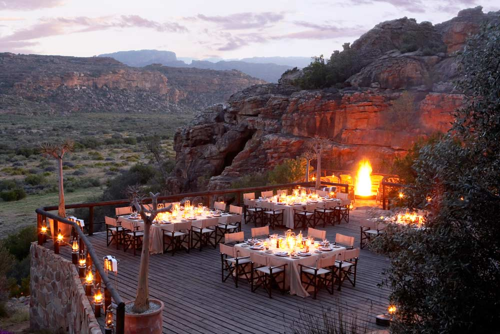 Rooftop Dining at Bushman's Kloof Wilderness Reserve