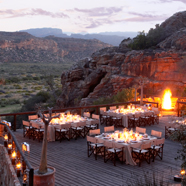 Rooftop Dining at Bushmans Kloof Wilderness Reserve