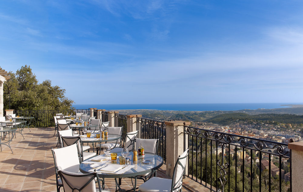 Terrace Dining at Chateau Saint-Martin and Spa, Vence, France