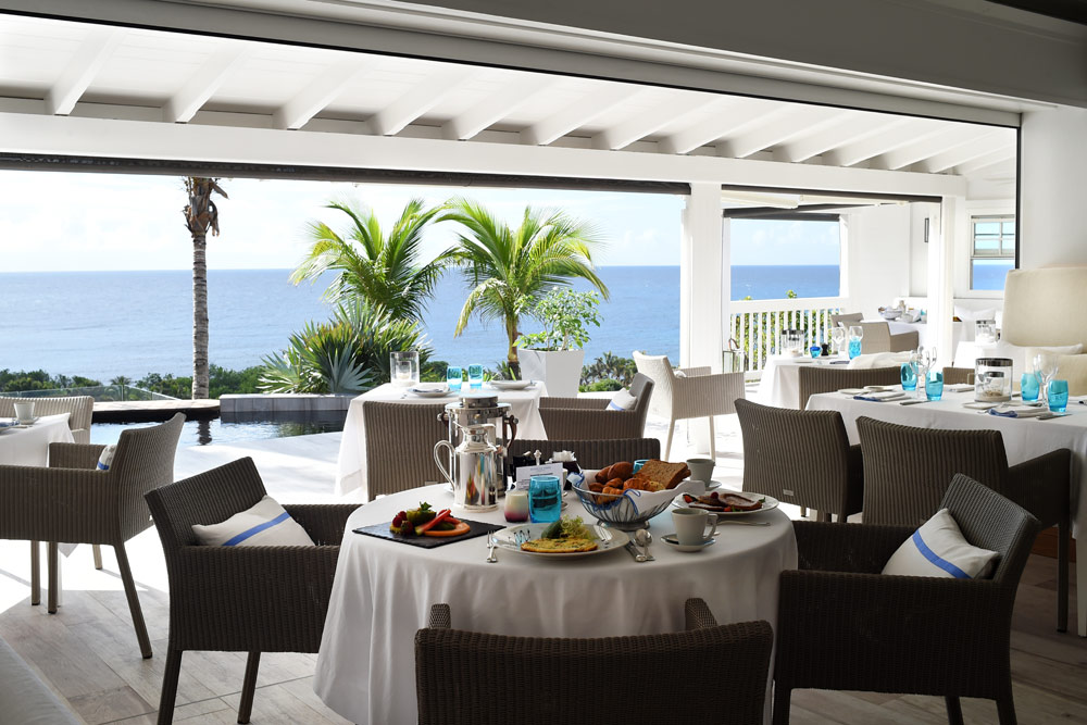 Dining at Hotel Le ToinySt Barthelemy