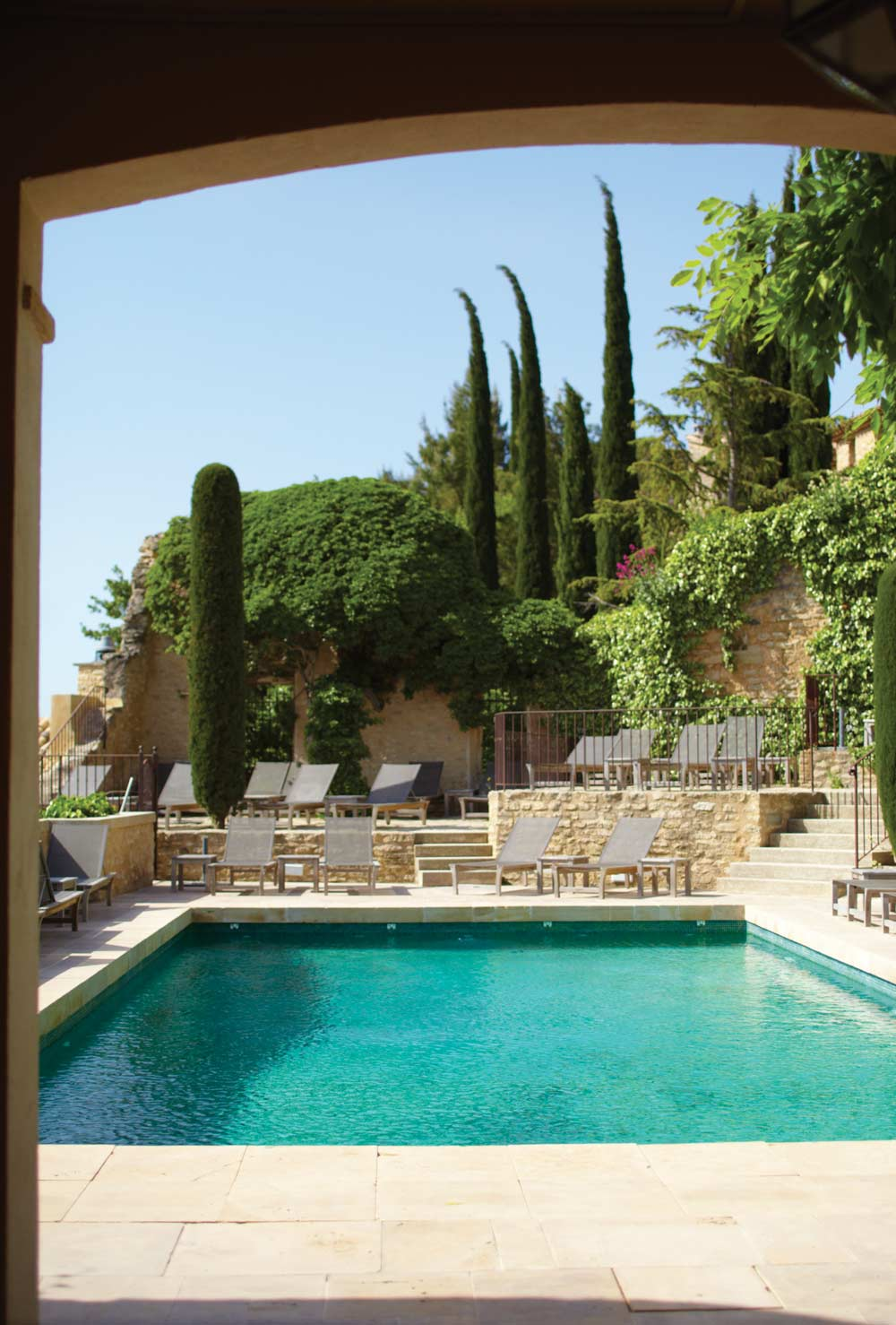 Outdoor Pool at Hotel Crillon Le Brave