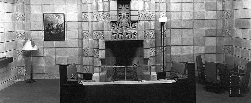 "Archive photo from the Arizona Biltmore Hotel of their ""Smoking Room."" The hotel opened in February 1929."