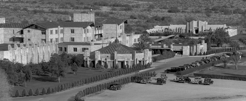 "Aerial Photo of The Arizona Biltmore Hotel in Phoenix - ""The Jewel of the Desert"" since 1929."