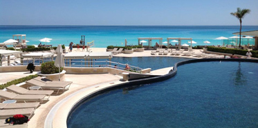 Sandos Cancun Luxury Experience Resort Pool View
