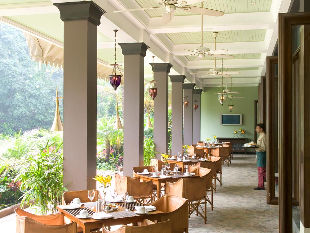 Terrace Dining at Taj West End, Bangalore