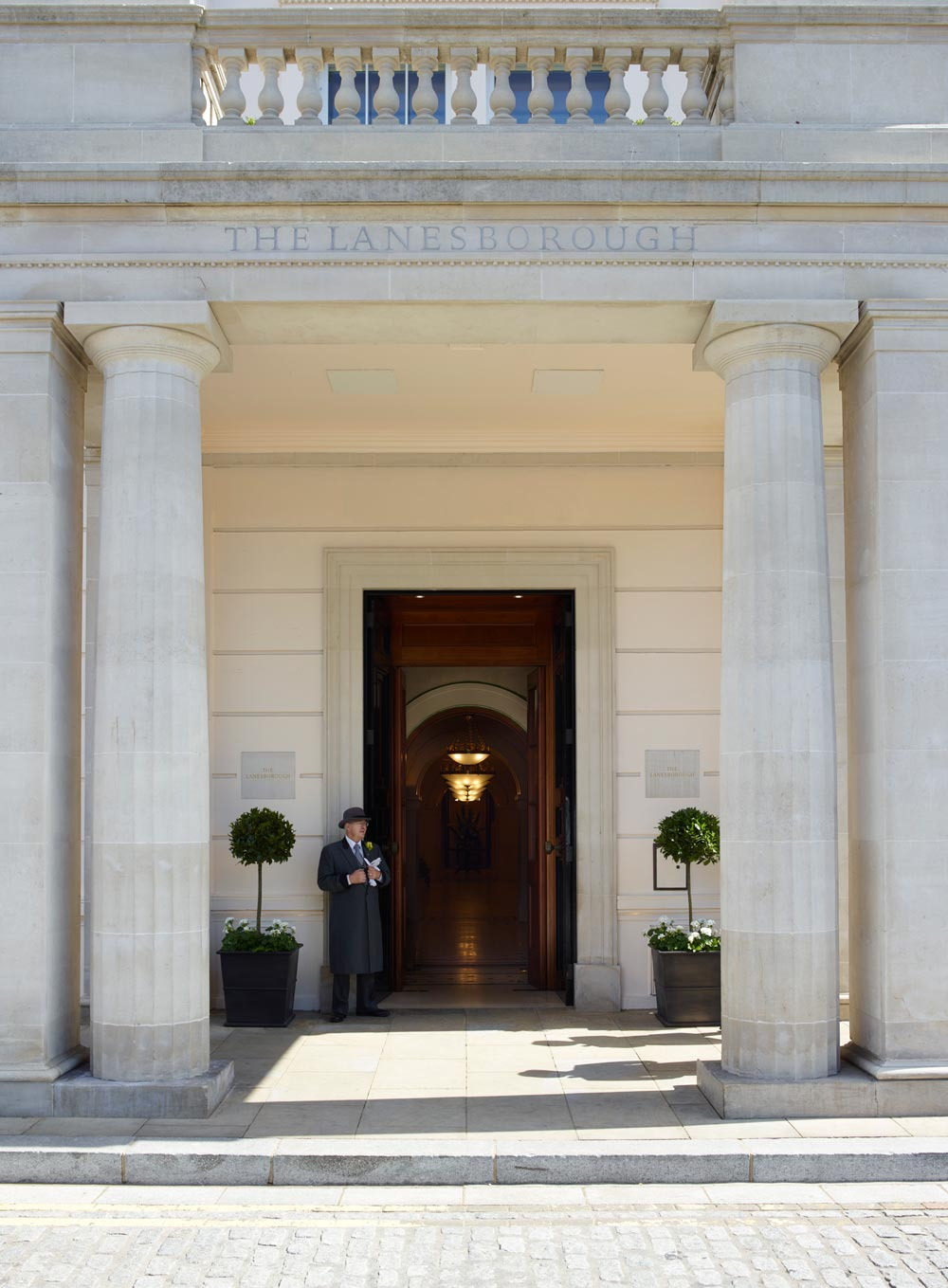 Entrance to The LanesboroughLondonUK