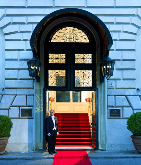 The St Regis Grand Rome Diplomatic Entrance