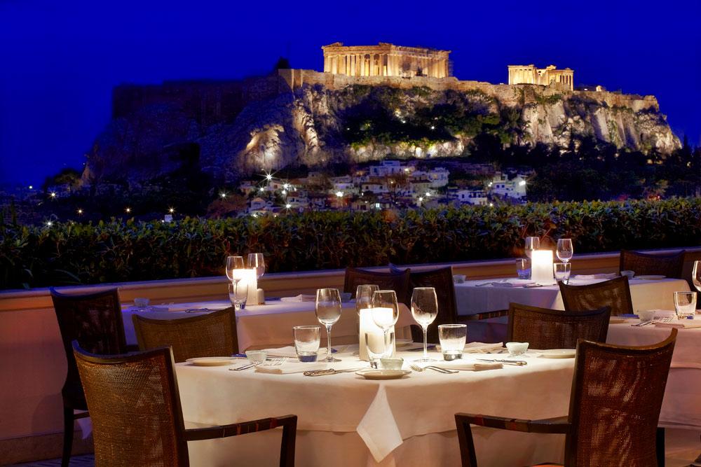 Dining at Hotel Grande Bretagne