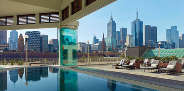 Relax In A Jacuzzi With A View At The Langham Hotel Melbourne.