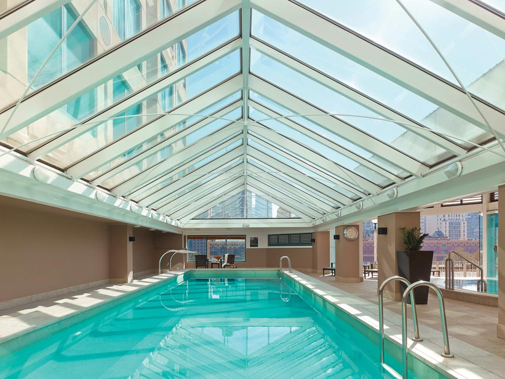 Indoor Pool Of The Langham Hotel Melbourne.