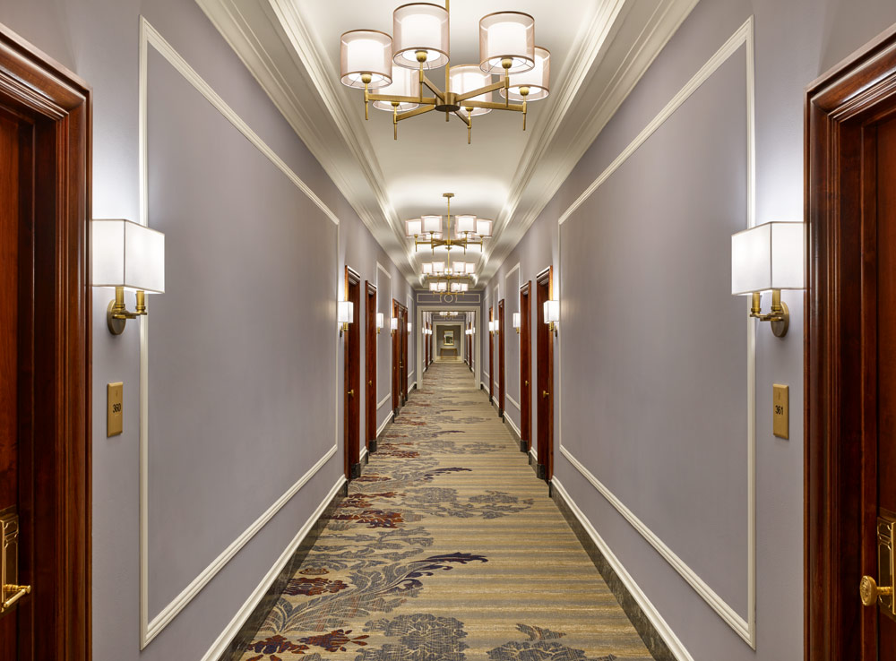 Guestroom Corridor at Palace Hotel, San Francisco