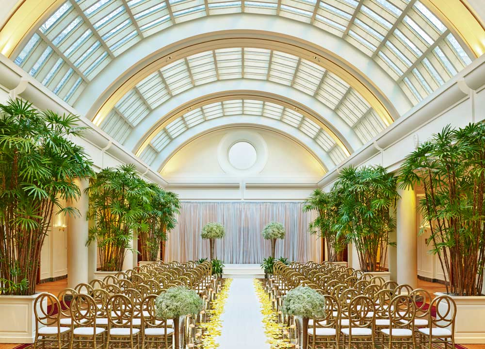 Sunset Court Wedding Space at Palace HotelSan Francisco