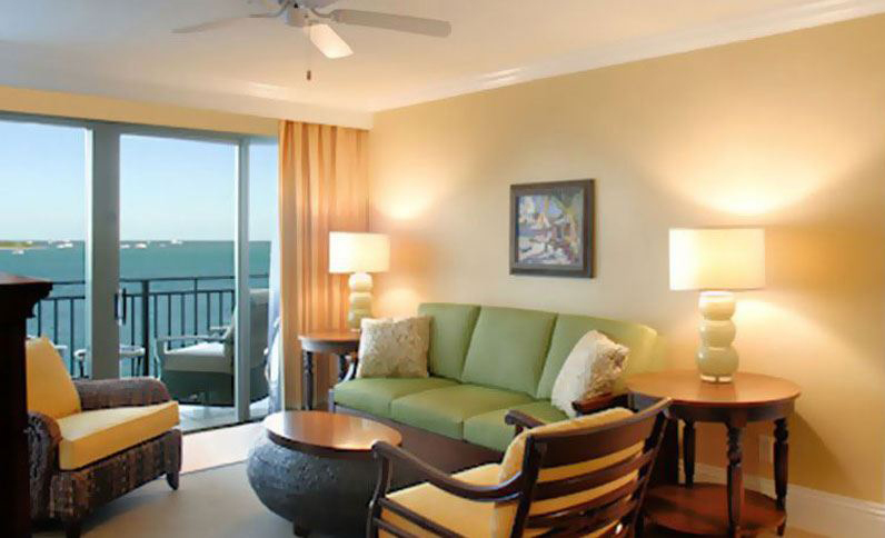 Ocean View Suite Living Area at Pier House Resort and SpaKey WestFL