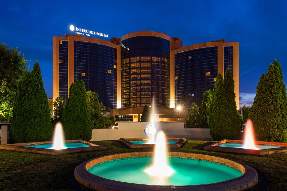 Exterior of The InterContinental Almaty, Kazakhstan